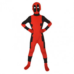 Deadpool Superhero Rood & Zwart Lycra Full Body Kids & # 039; Zentai