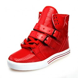 Mannen Schoenen Casual Leatherette Fashion Sneakers Black / Red / White