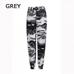 Dames Losse Camouflage Cargo Hiphop Broek