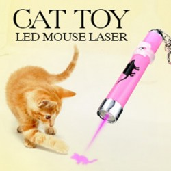 2017 Creatieve en grappige huisdier kat speelgoed Led Laser Pointer Light Pen Met Bright Animation Mouse Random Color