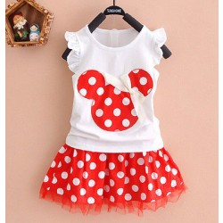 0-4Y Minnie Mouse Baby Kid Girls Prinses Kleding Cartoon Party Mini Jurk