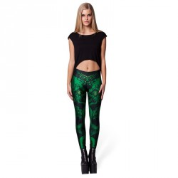 De nieuwe digitale drukstijl leggings populaire Halloween themedempel Dragon Star patroon leggings Ms.