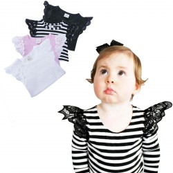Baby Boy Girls Tops Butterfly Long Sleeve Round Collar Cotton Clothes