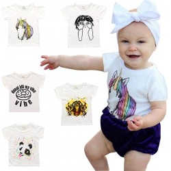 Baby Boy Girls Cute T-shirts Unisex Tops Outfits Clothes