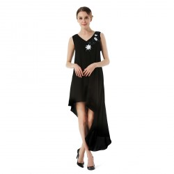 Chiffon High Low Sleeveless Women's Dress Long Skirts