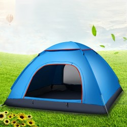 Four-Person Tent Water-Resistant Dome Tent For Outdoor Camping