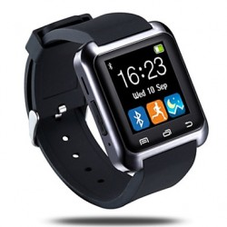 Bluetooth3.0 Camber Surface Smart Watch Pedometer Slaap Monitor Sync Oproepbericht voor Android Phone & Iphone