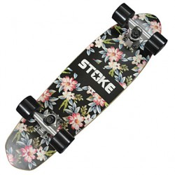 26 & Quot; X 7.2 & Quot; Cruiser Skateboard Met Abec-9 Bearings 60 X 45Mm Wheels Floral Graphic