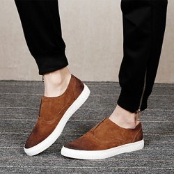 Mannen Schoenen Amir 2017 Nieuwe collectie Populaire verkoop Party / Office / Casual Black / Brown Leather Loafers Style Creepers