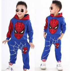 2017 New Retail Spiderman Kids Kleding Sets Kinderen Fashion Cartoon Zomer Shirt + Broek Jongens Tees Broek Suit