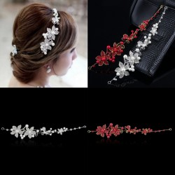 2017 New Women Headband / Crystal Rhinestone Faux Pearl Headband Vrouwen Bridal Hair Jewelry Fashion Wedding Hair Accessoires