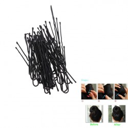 50pcs Fashion Thin U Shape Hair Clips Pins Zwart Metaal Bobby Hair Pin Styling Tools Haarspeldje Trouwaccessoires Sieraden Populair Verkoop