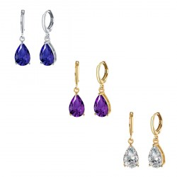 18k Gold Silver Jewelry Party Diamond Earrings with Lighting Box