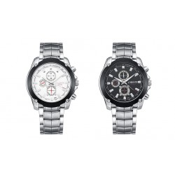 Fashion Quartz Steel Material Waterproof Business Casual Watch