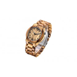 Earth Wood Aztec Biscayne Sapwood Men's Classical Watches